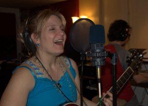 Julie in the studio