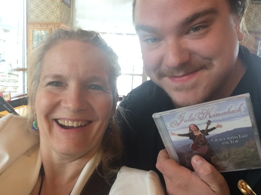 Stephen, a local rock singer, won a CD at Potbelly