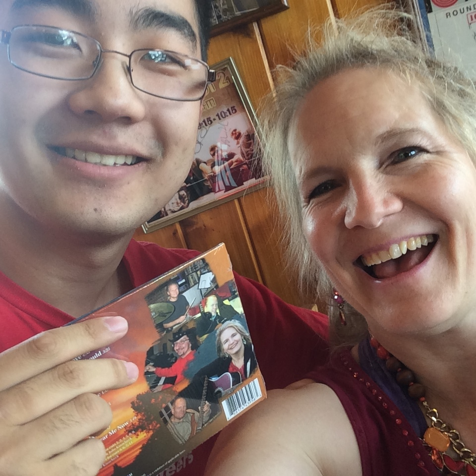 William won a CD at Potbelly2